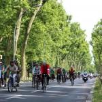 Auch viele ehrenamtliche Begleiter auf Einzelrädern waren zum Schutz dabei.