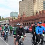 Fahrräder an der Oberbaumbrücke