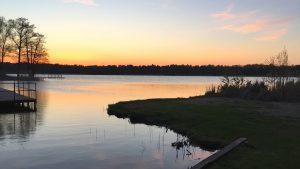 Sonnenuntergang am Köthener See