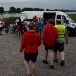 Das Versorgungsauto am Ufer des Rheins