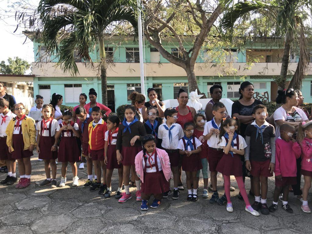 Schüler der Blinden- und Sehbehindertenschule Camagüey